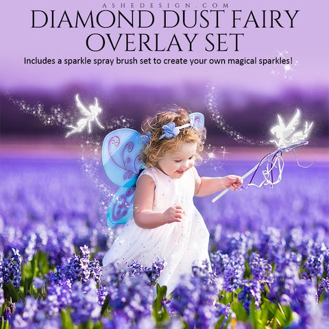 Ashe Design | Designer Gems Overlays | Diamond Dust Fairies | Sparkle Spray Brushes
