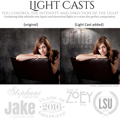 Photoshop Light Casts | Seniors 2016