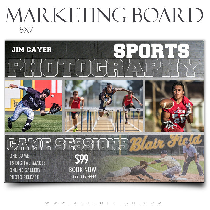Ashe Design | Marketing Board 5x7 Flat | Game Maker