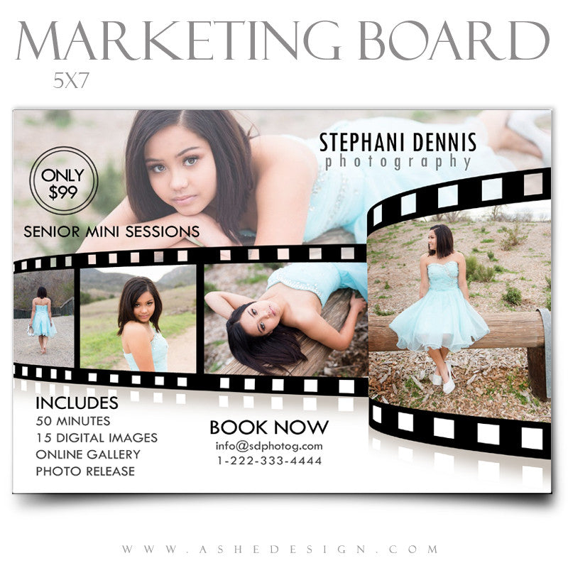 Marketing Board 5x7 Flat | Film Strip