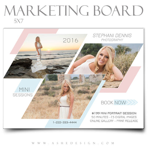 Marketing Board 5x7 Flat | Geometric