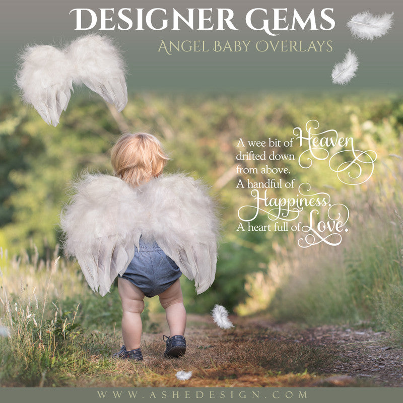 Ashe Design | Designer Gems | Photo Overlays | Angel Baby Wings