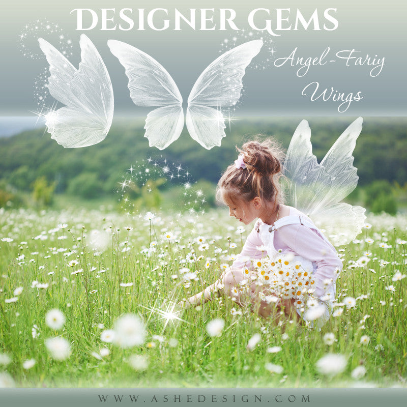 Ashe Design | Designer Gems | Photo Overlays | Angel-Fairy Wings