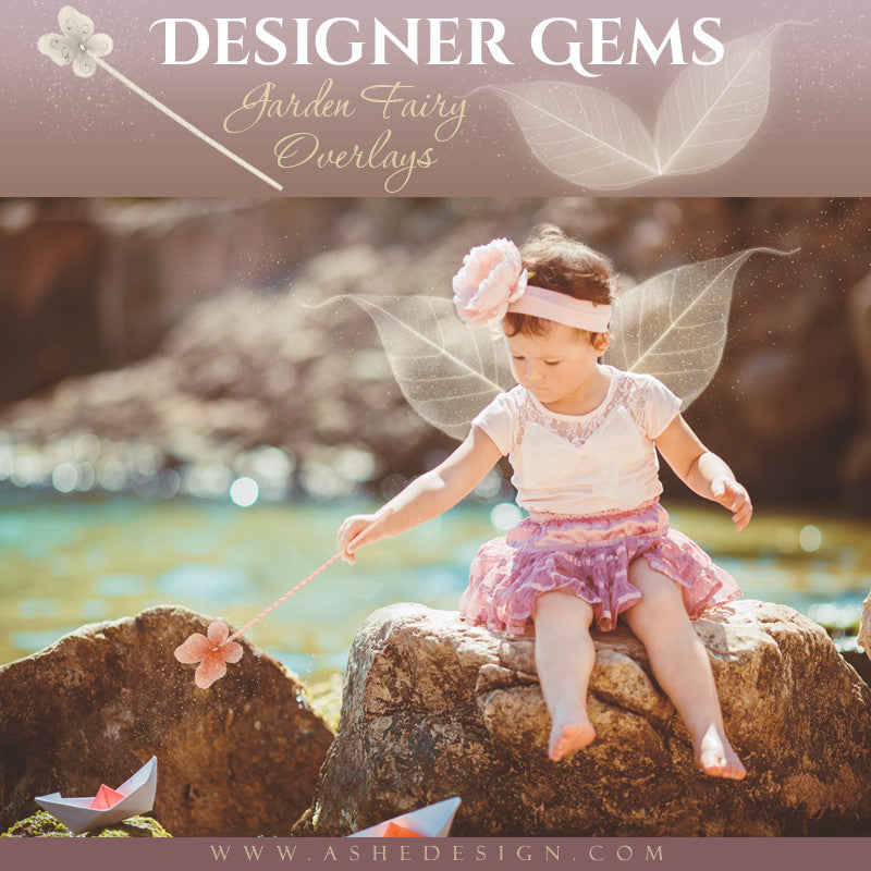 Ashe Design Designer Gems Photo Overlays Garden