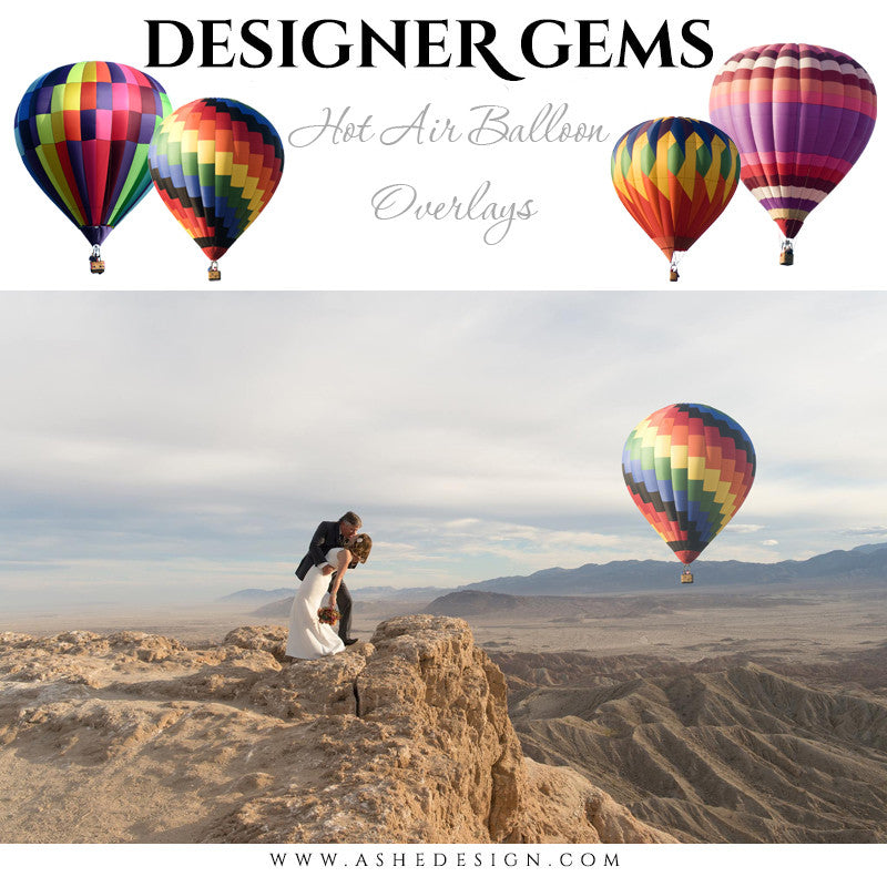 Ashe Design | Digital Overlays | Hot Air Balloons