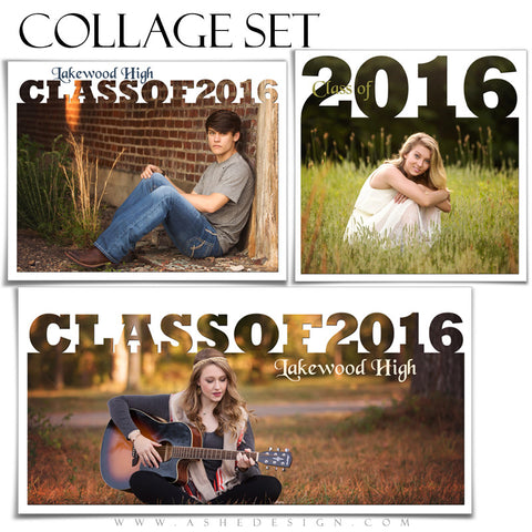 Ashe Design | Photoshop Collage Templates | Class of 2016