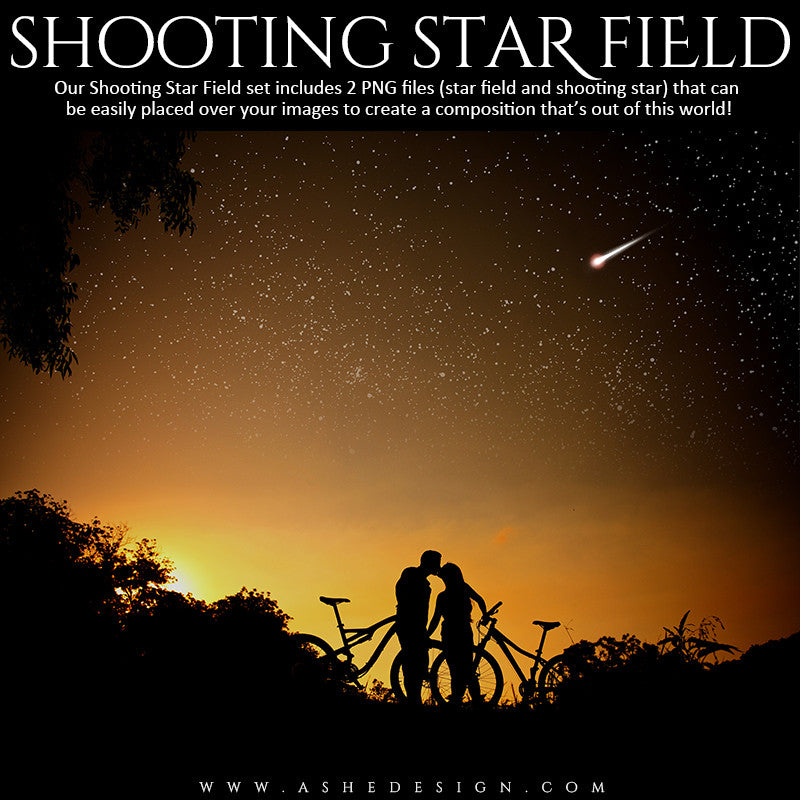 Ashe Design | Designer Gems | Shooting Star Field Overlays