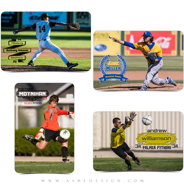 Customizable Photoshop Sports Word Art | Player examples