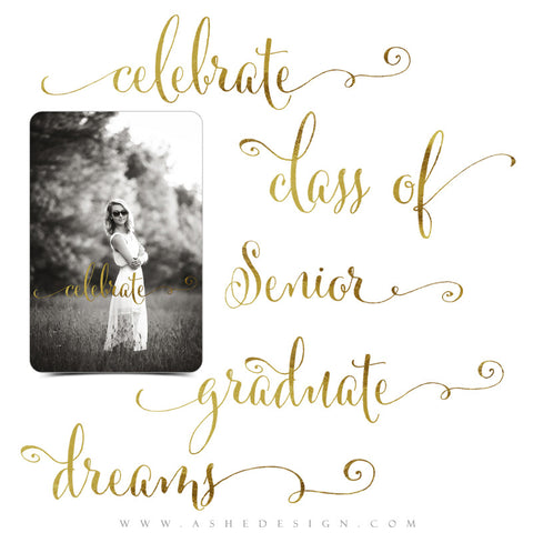 Graduation Word Art Set | Golden Grads full set