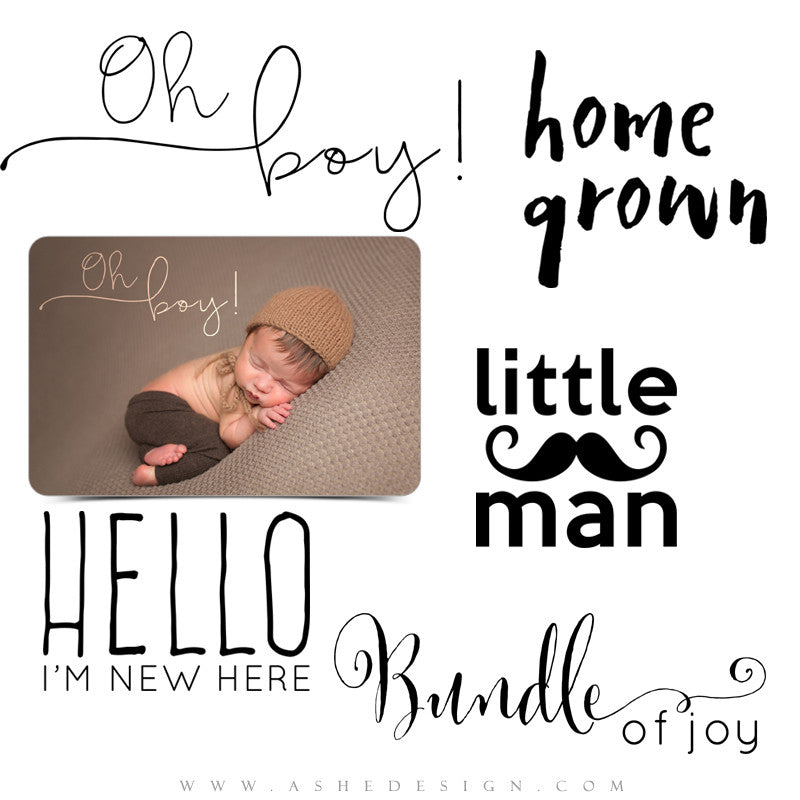 Newborn Photoshop Word Art Little Man Ashedesign
