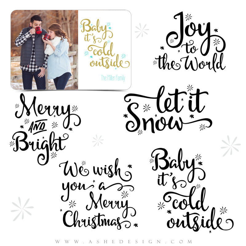 Christmas Word Art Set | Let It Snow