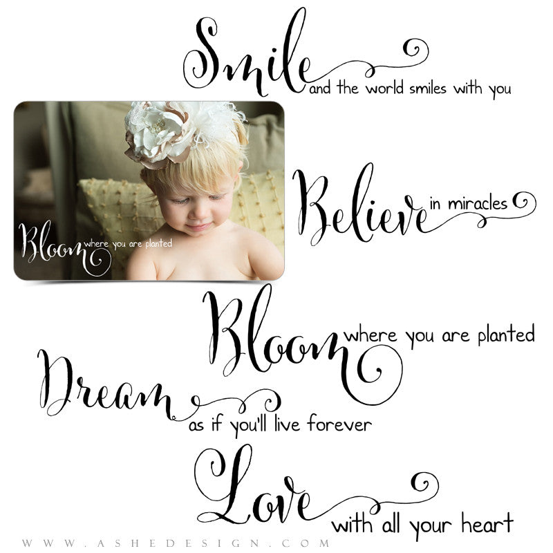 Inspirational Photoshop Word Art Set | Smile