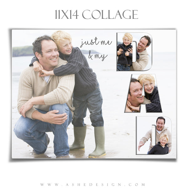 Ashe Design | Photoshop Templates | Word Collage 11x14 | DAD