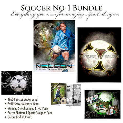 Soccer Photography Template Sports Bundle