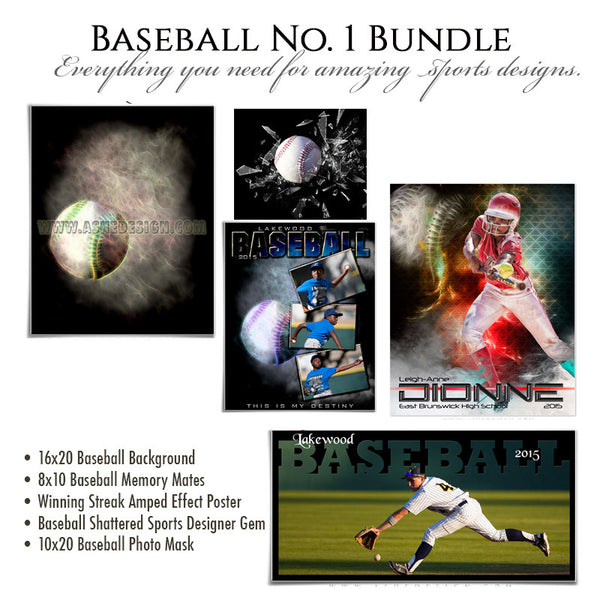 Baseball Photography Template Bundle