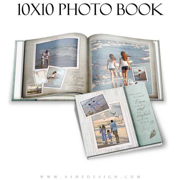 Ashe Design | Photo Book 10x10 | By The Seashore
