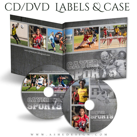 CD/DVD Label & Case Set | Game Maker