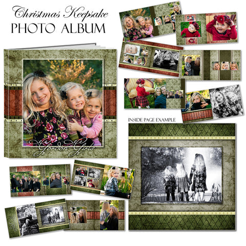 Ashe Design | Photo Book Template 10x10 | Christmas Keepsake