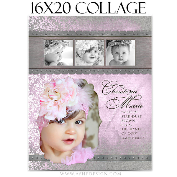 Ashe Design - Christina 16x20 Collage Template
