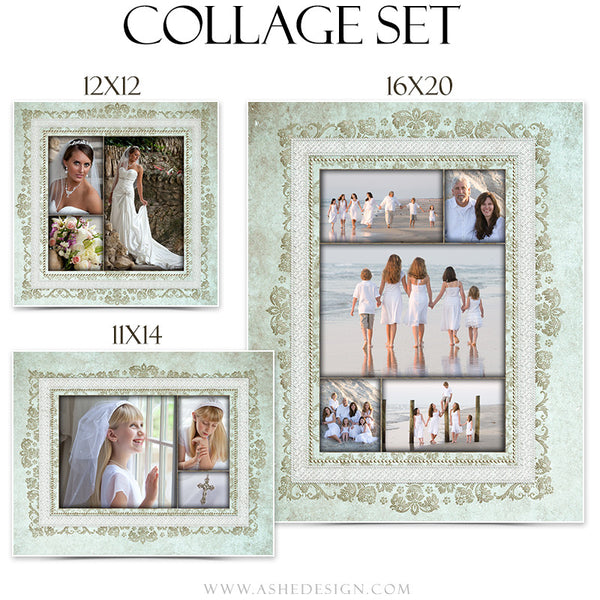 Family Collage Set | Tiffany Damask