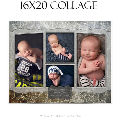 Newborn Collage 16x20 | Slateboard