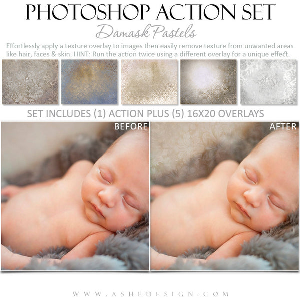 Photoshop Action - Pastel Overlays - Baby