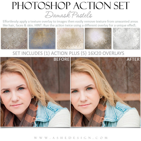Photoshop Action - Pastel Overlays - Senior