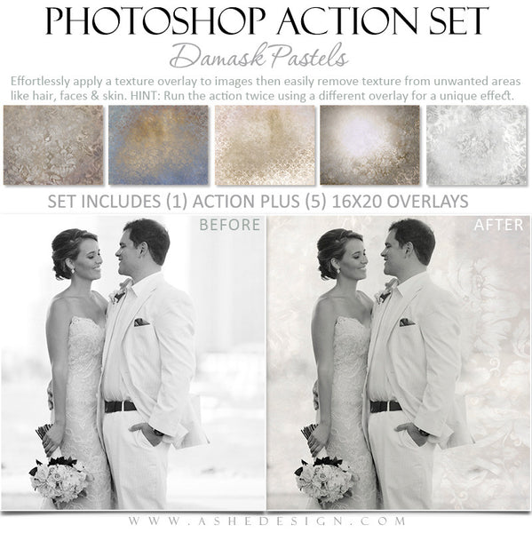 Photoshop Action - Pastel Overlays - Wedding