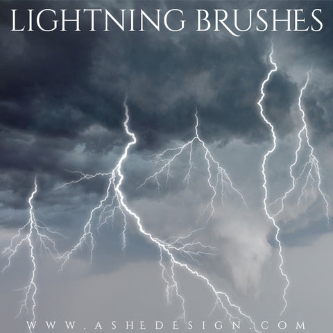 Ashe Design | Photoshop Brush Set | Lightning