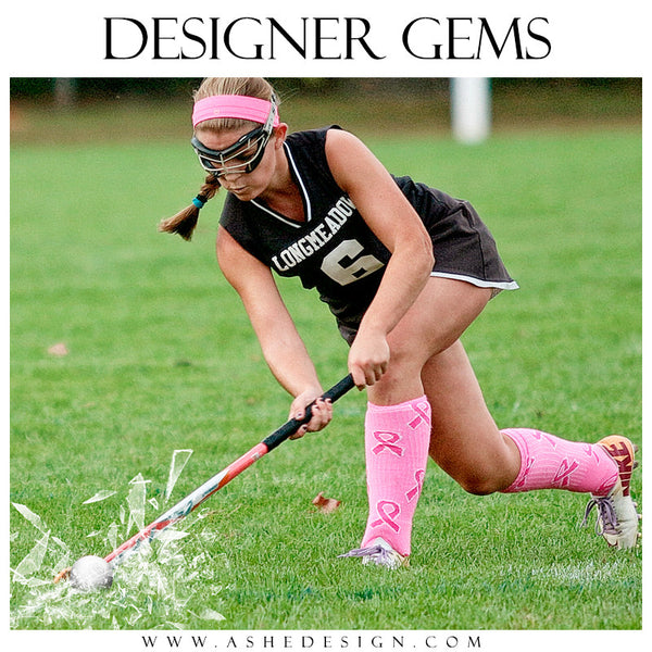 Ashe Design | Digital Overlays | Shattered Sports Elements2 field hockey
