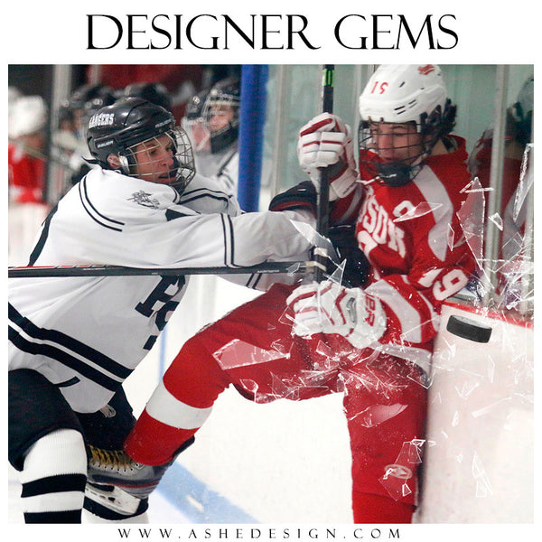 Ashe Design | Digital Overlays | Shattered Sports Elements hockey