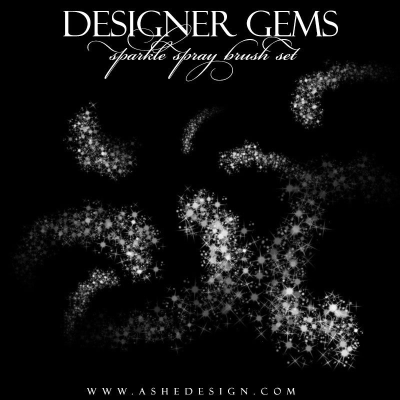 Ashe Design | Photoshop Brush Set | Sparkle Spray set