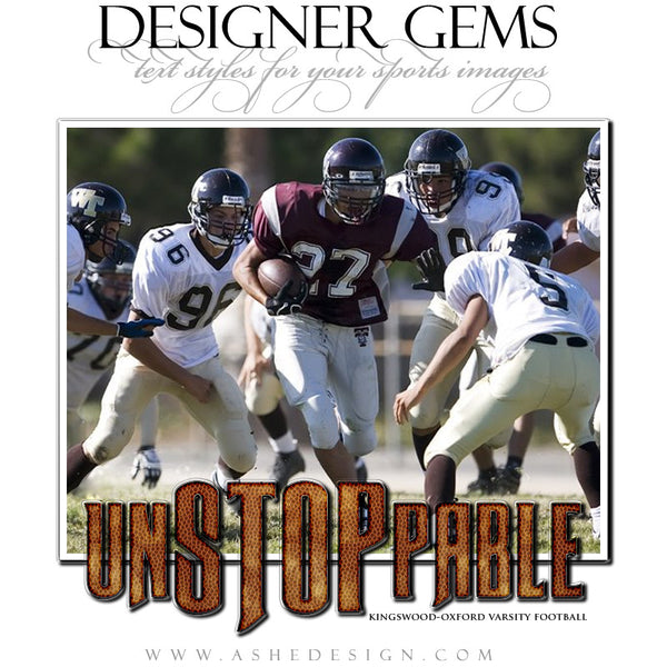 Ashe Design | Sports Styles | Designer Gems football
