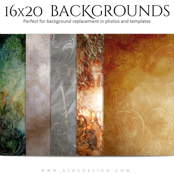 Backgrounds 16x20 | Artistic Grunge set