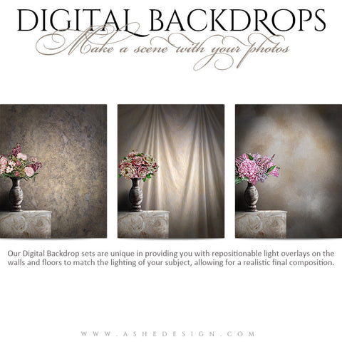 Digital Props 16x20 Backdrops | Floral Impression full set