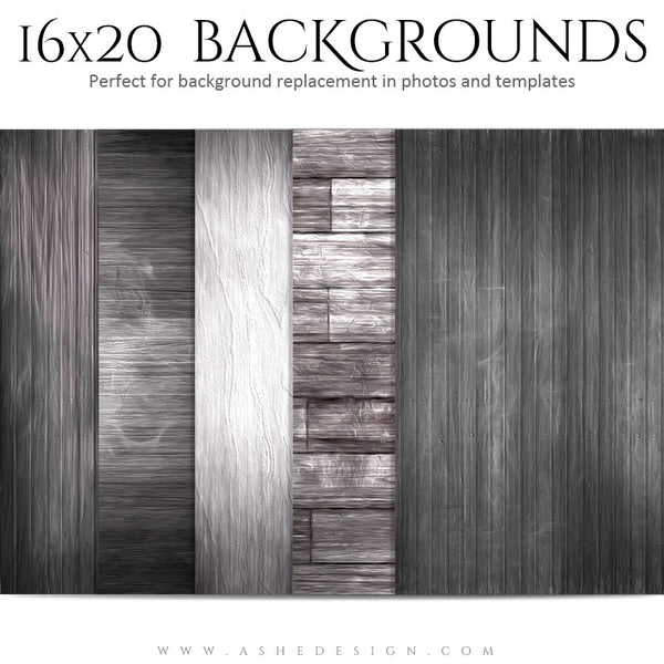 Photography Backgrounds 16x20 | Painted Wood set