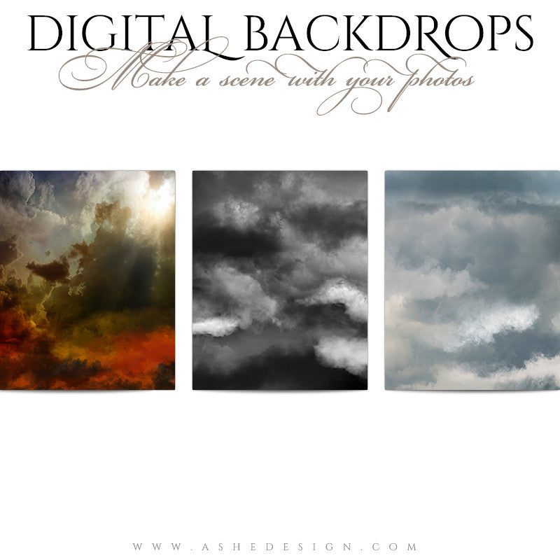 Digital Props 16x20 Backdrops | Storm Clouds