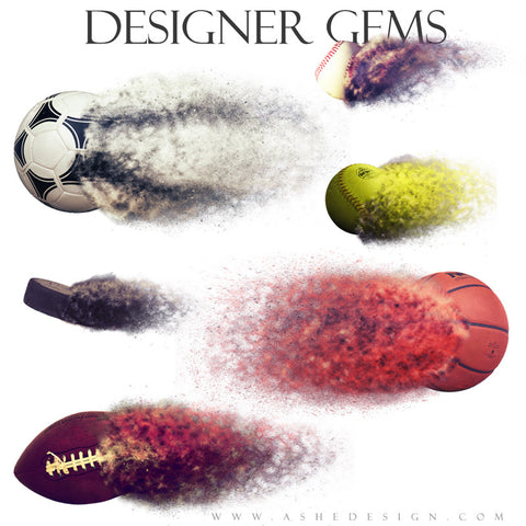 Designer Gems | Disintegrating Sports Elements