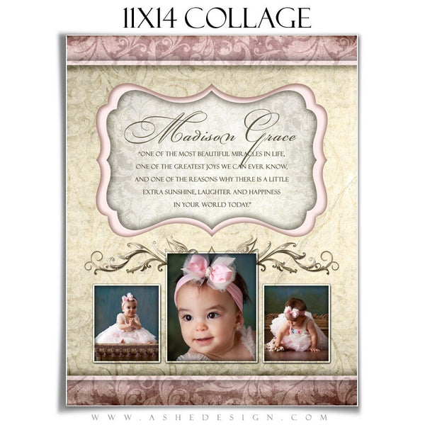 Ashe Design | Collage Template | 11x14 | Madison Grace