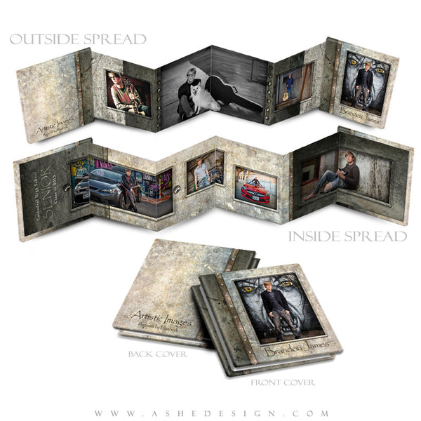 Ashe Design | Photoshop Template | 3x3 Photo Book | Granite