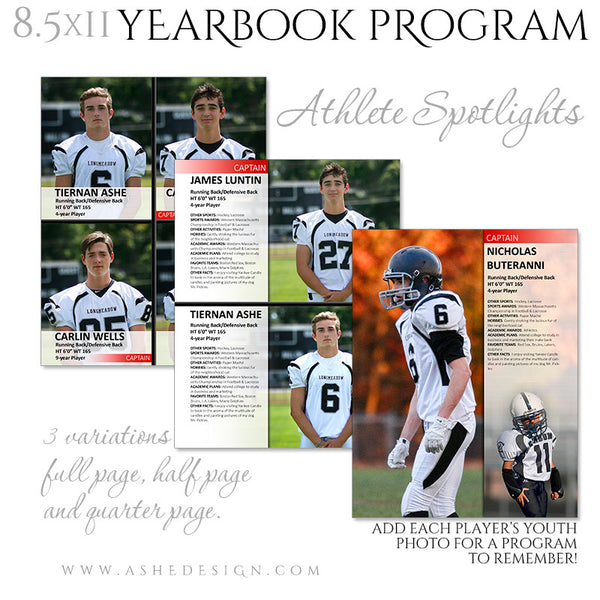 Yearbook Program 8.5x11 Soft Cover | Essential Sports athlete spotlights
