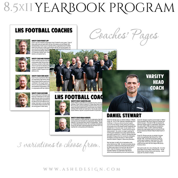Yearbook Program 8.5x11 Soft Cover | Essential Sports coaches pgs
