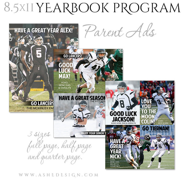 Yearbook Program 8.5x11 Soft Cover | Essential Sports parent ads