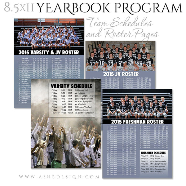 Yearbook Program 8.5x11 Soft Cover | Essential Sports team rosters