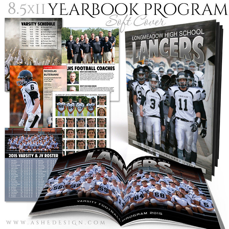 Yearbook Program 8.5x11 Soft Cover | Essential Sports set