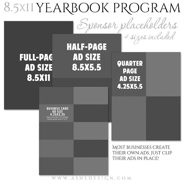 Yearbook Program 8.5x11 Soft Cover | Essential Sports blank ads