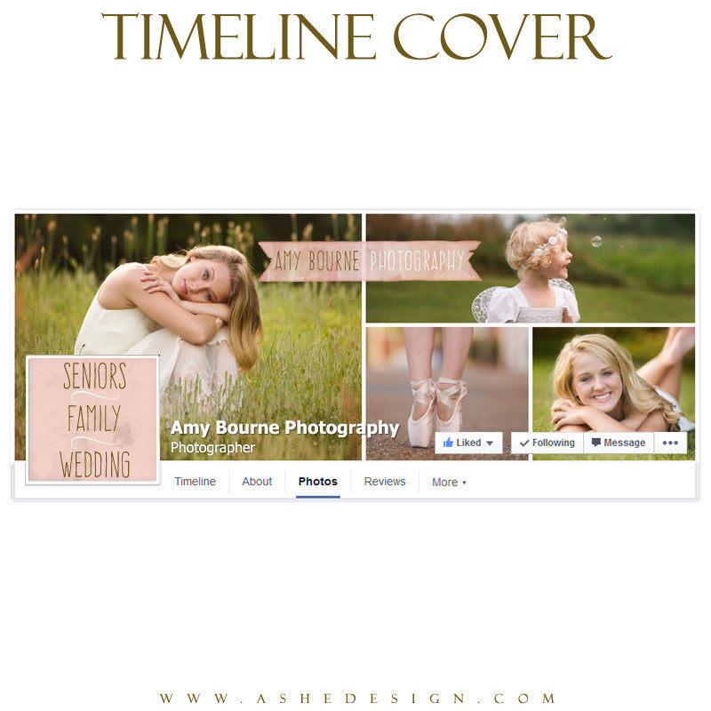 Facebook Timeline Cover | Watercolor Ribbon