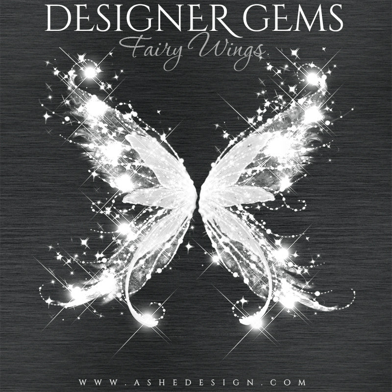 Designer Gems Photo Overlays | Fairy Wings