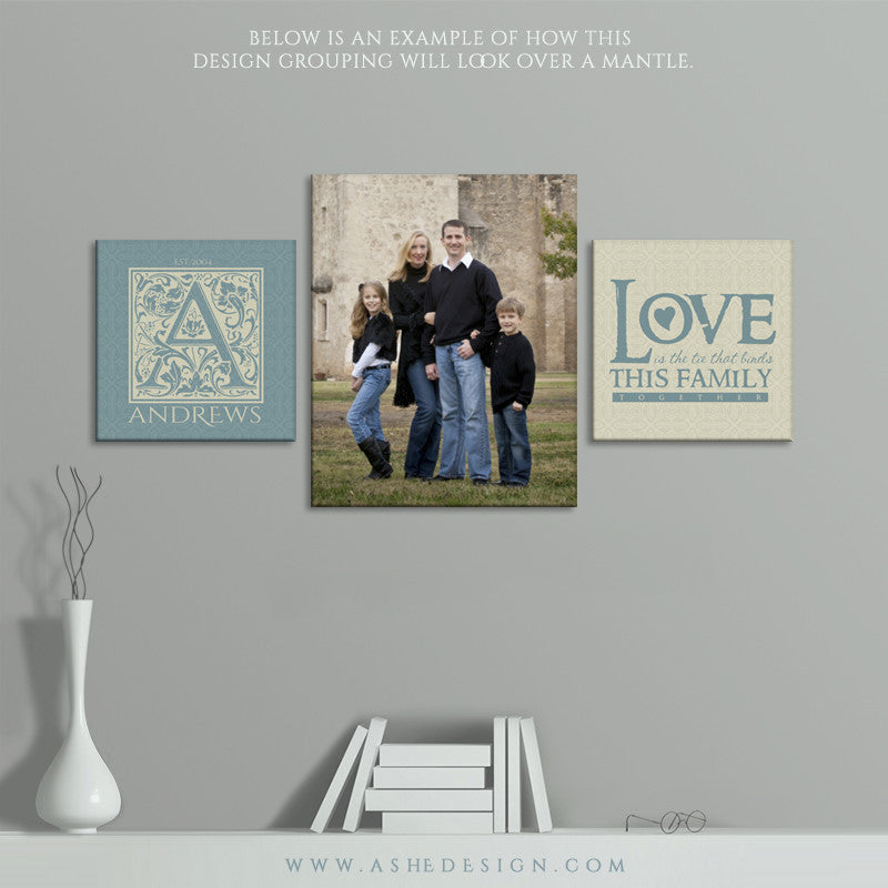 Wall Groupings Photography Templates | Family Ties