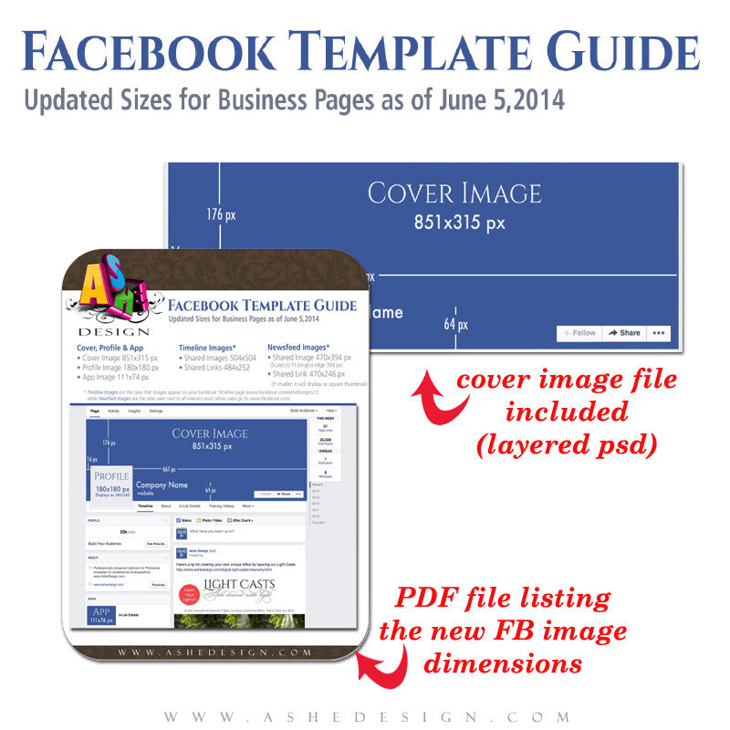 Facebook Size Guide and Timeline Template
